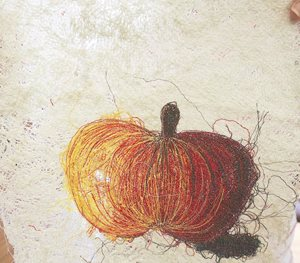 Apple thread art