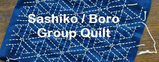 News for the Sashiko/Boro group quilt