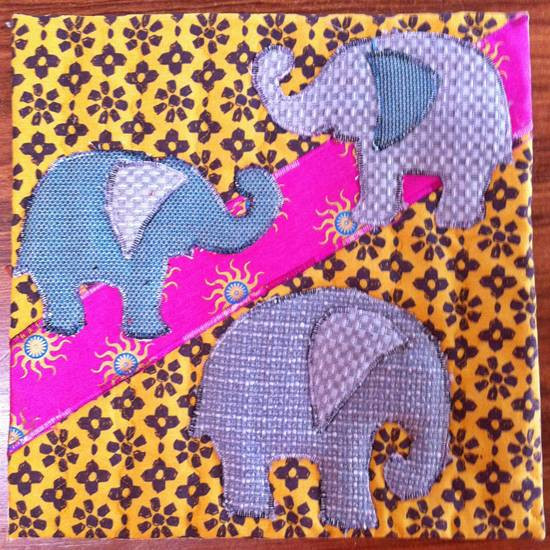 elephant2 12 inch quilt