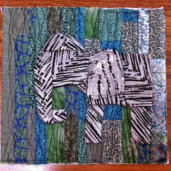 elephant3 12 inch quilt