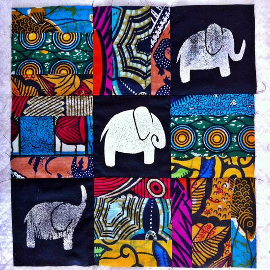 elephant4 12 inch quilt
