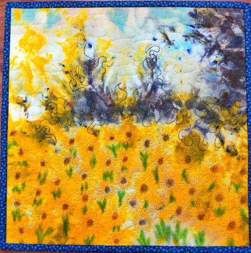 Sew, Art & Chat's Sunflowery day in May