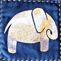 foil elephan art quilting