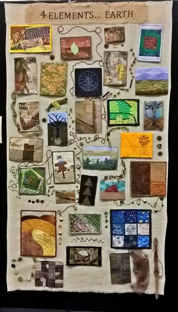 Ps&Qs group quilt: 4 elements - earth