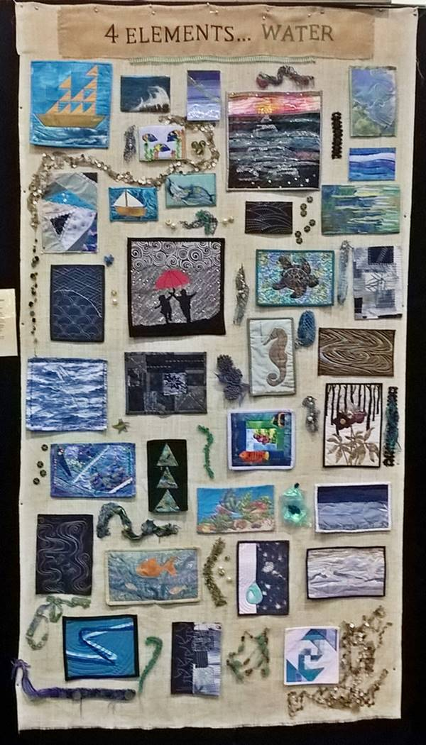 Ps&Qs group quilt: 4 elements - water