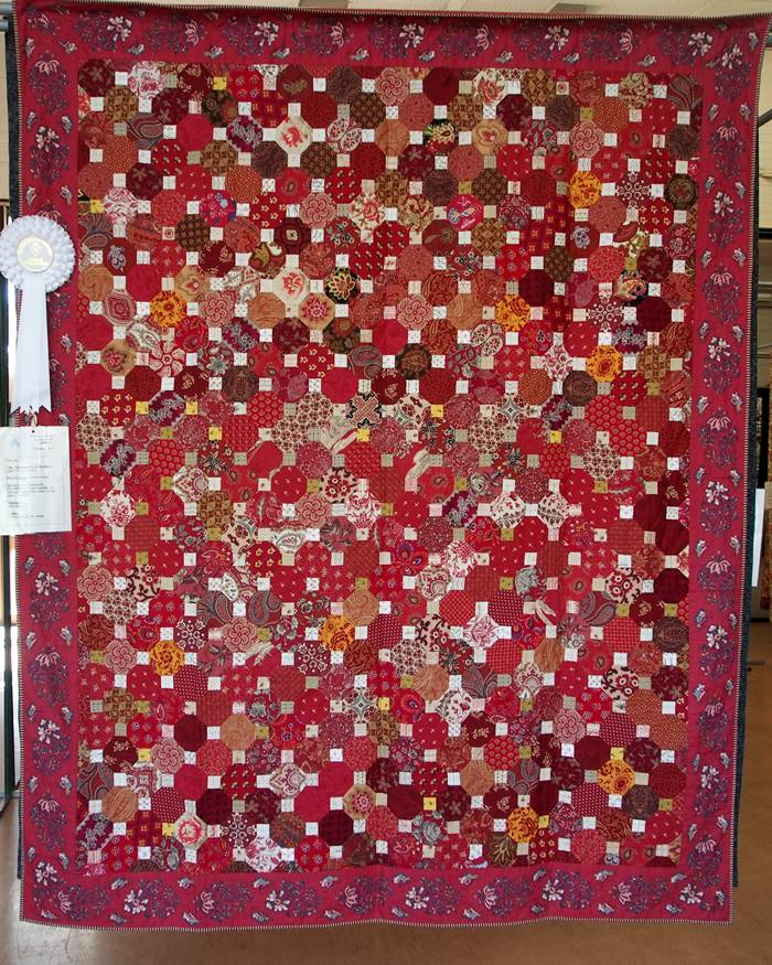 Red Coverlet of Octagons by Fran Batrouney