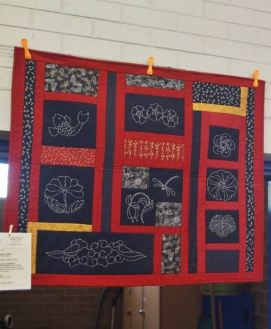 Sashiko In Red by Helen Darvall