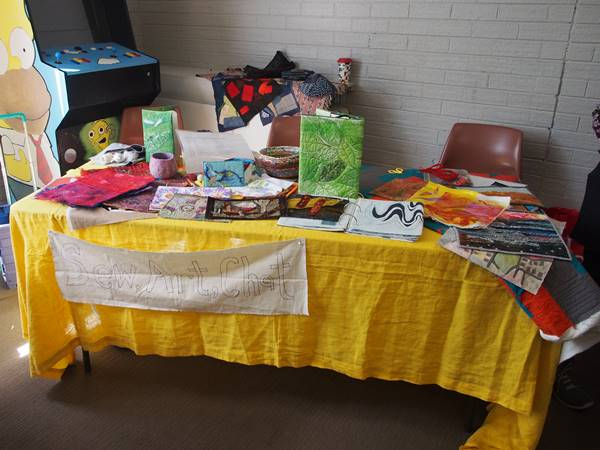 Display from the Sew, Art and Chat group