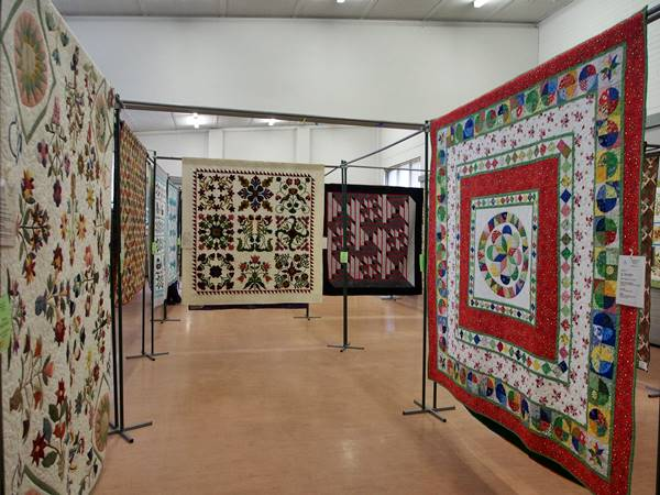 A few of the displayed quilts