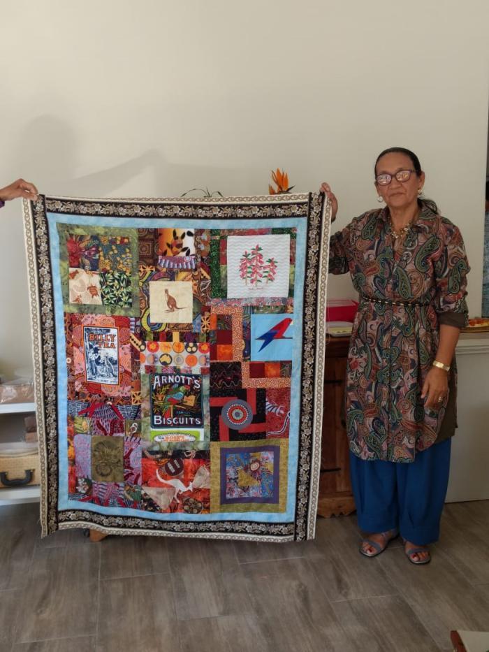 Monica Smith & quilt