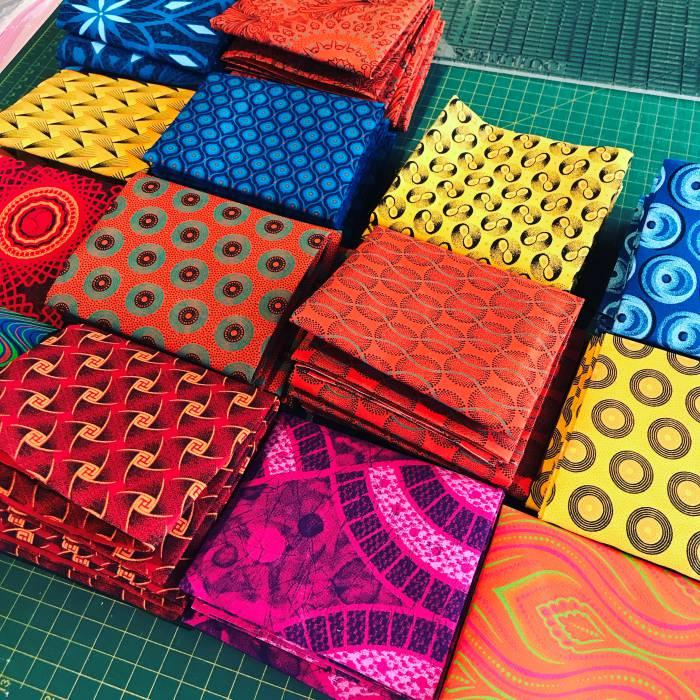 Selection of Shweshwe fabric