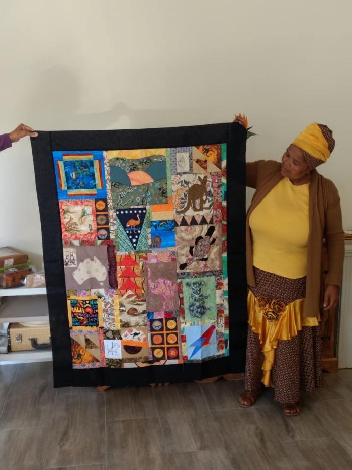 Talita Ntombeni & quilt